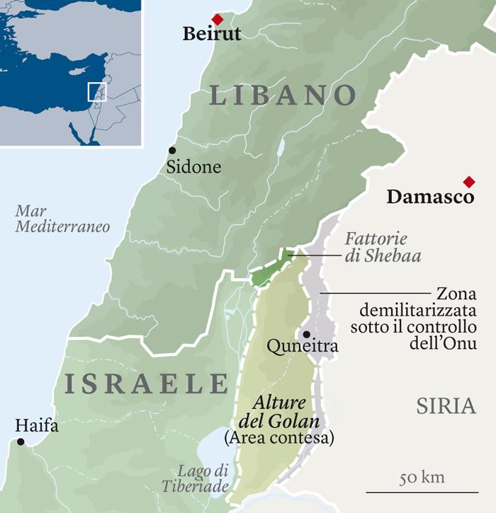 Cartina Libano E Israele.Parla Un Generale Di Israele Siamo Pronti Al Doppio Conflitto In Libano E Golan Spondasud Spondasud