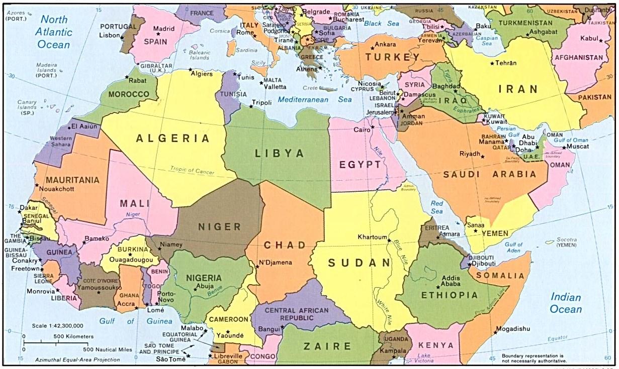 Cartina Europa E Medio Oriente.Italia Aumentano Le Esportazioni Verso I Paesi Arabi Nel 2015 Spondasud Spondasud